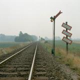 Havdrup Station. Jernbanen Roskilde - Køge. Siemens-Halske signalsystem Vingesignal