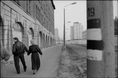 Berlin Muren Marts 1990 Die Mauer Berliner Mauer Dødszonen Stressemannstrasse