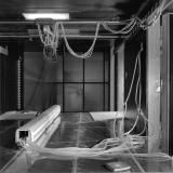 Modelforsøg i vindtunnel på Danmarks Skibstekniske Laboratorium, Lyngby. Juli 1985.